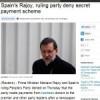 """Los resultados del Santander comparten protagonismo con los """"sobres """" a Rajoy"""