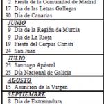 Calendario 2014 de Cataluña