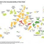 El mapa mundial de la deuda