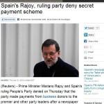 Los resultados del Santander comparten protagonismo con los «sobres » a Rajoy