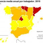 El salario medio en España