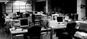 oficina gris
