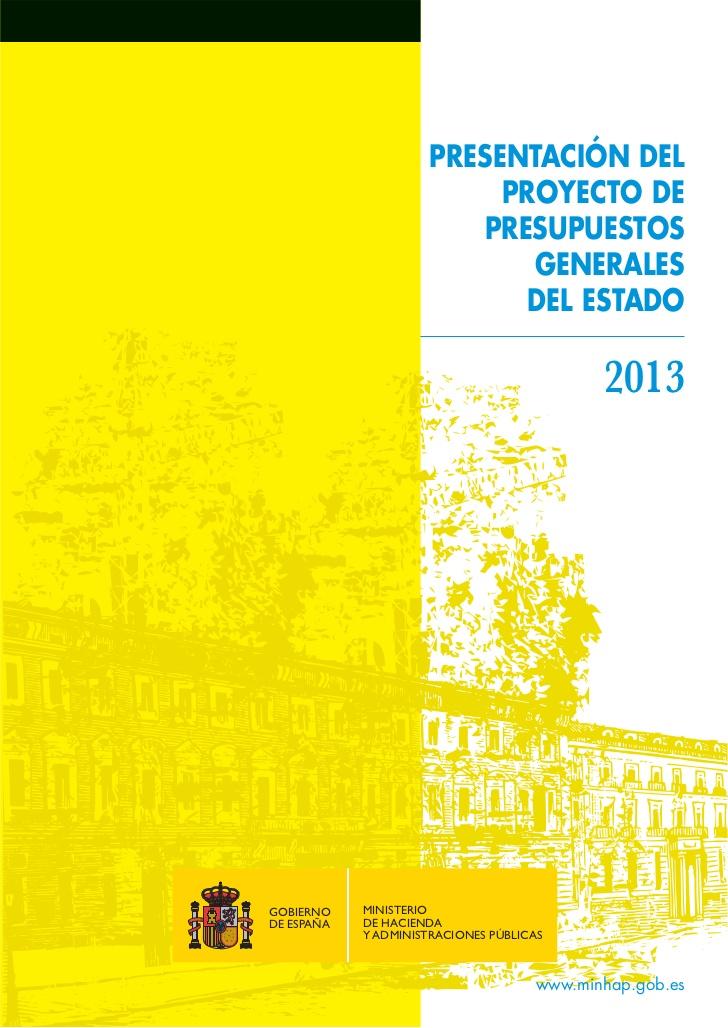 Presupuestos generales del estado para 2013