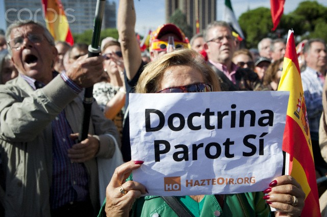 Thousands rally to protest against the 'Parot Doctrine' in Madrid