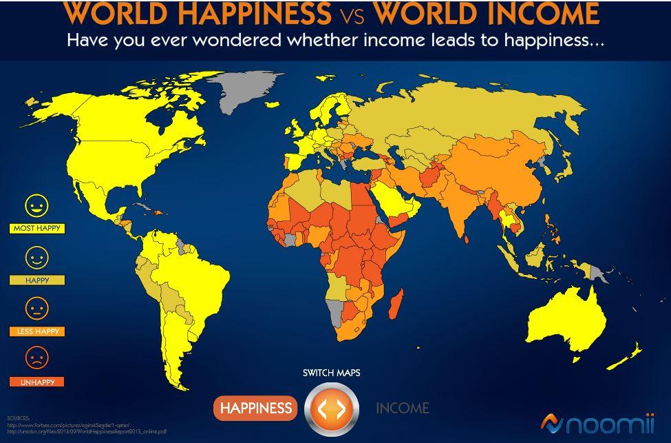 felicidad en el mundo