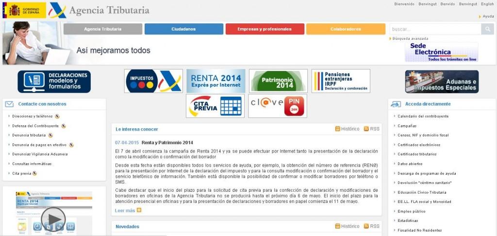 Cómo solicitar el borrador de la renta 2014